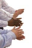 Mãos Multiracial Fotos de Stock