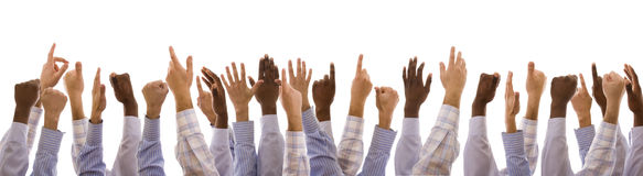 Mãos Multiracial Fotografia de Stock