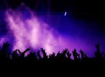 Mãos, névoa e luz Imagens de Stock Royalty Free