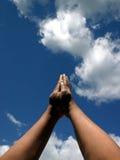 Mãos na oração Foto de Stock Royalty Free
