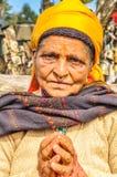 Mãos na oração em Nepal Imagem de Stock Royalty Free