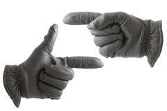 Mãos nas luvas Fotografia de Stock Royalty Free