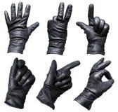 Mãos nas luvas imagem de stock royalty free