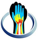 Mãos nas mãos ilustração do vetor