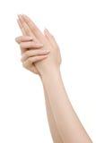 Mãos no branco Foto de Stock Royalty Free