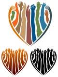Mãos no coração ilustração royalty free