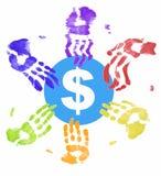 Mãos no dinheiro Fotos de Stock Royalty Free