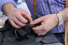 Mãos no trabalho Foto de Stock Royalty Free