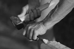 Mãos no trabalho Fotos de Stock Royalty Free