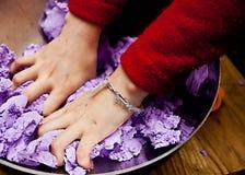 Mãos ocupadas Imagens de Stock