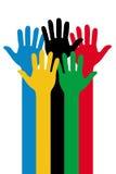 Mãos olímpicas Fotografia de Stock