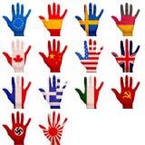 Mãos pintadas Fotos de Stock