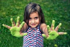 Mãos pintadas Foto de Stock