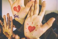 Mãos positivas Fotos de Stock