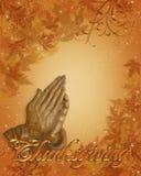 Mãos Praying da beira da acção de graças Imagens de Stock Royalty Free