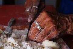 Mãos praying velhas Imagem de Stock Royalty Free
