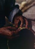 mãos pretas Imagem de Stock