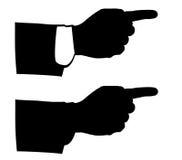 Mãos pretas do homem de negócios ícones, eps10 Fotos de Stock
