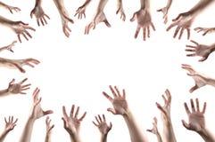 Mãos que agarram algo Imagens de Stock