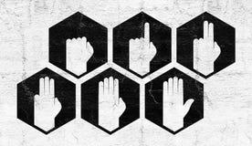 Mãos que contam o símbolo Imagens de Stock