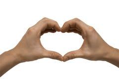 Mãos que dão forma a um coração Imagem de Stock Royalty Free