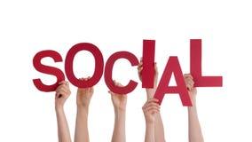 Mãos que guardam o Social Fotografia de Stock Royalty Free