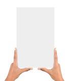 mãos que guardaram o cartão Fotografia de Stock