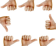 Mãos que mostram-se Fotografia de Stock Royalty Free