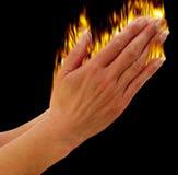 Mãos que praying Fotos de Stock Royalty Free