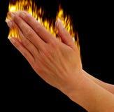 Mãos que praying Imagens de Stock Royalty Free