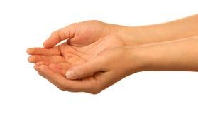 Mãos que prendem algo Foto de Stock