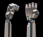 Mãos robóticos fotografia de stock royalty free