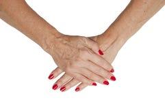 Mãos sênior Imagens de Stock