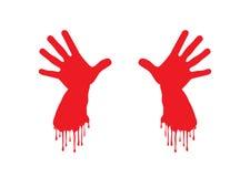 Mãos sangrentas Fotografia de Stock