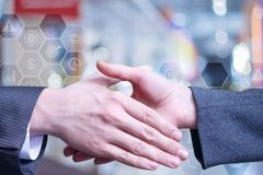 Mãos servidas a agitar as mãos imagem de stock royalty free
