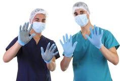 Mãos sujas e limpas Fotografia de Stock Royalty Free