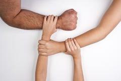 Mãos unidas Fotografia de Stock