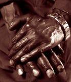 Mãos velhas Fotografia de Stock Royalty Free