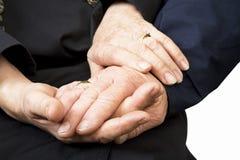 Mãos velhas Imagens de Stock Royalty Free