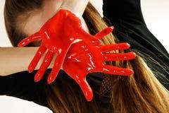 Mãos vermelhas imagem de stock royalty free