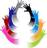 Mãos voluntárias ilustração royalty free