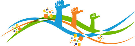Mãos voluntárias Imagem de Stock