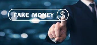Mężczyzna ręki odciskania dolarowy znak sfałszowany pieniądze obrazy royalty free