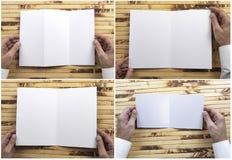 Mężczyzny mienia broszura fotografia royalty free