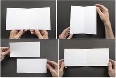 Mężczyzny mienia broszura obraz royalty free