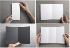 Mężczyzny mienia broszura obrazy stock