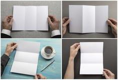 Mężczyzny mienia broszura fotografia stock