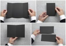 Mężczyzny mienia broszura obraz stock
