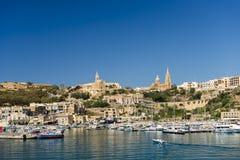 MÄ ¡ arr, Veerboothaven in Gozo-eiland Stock Afbeeldingen