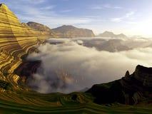 Mächtige geschichtete Landschaft Stockfotografie